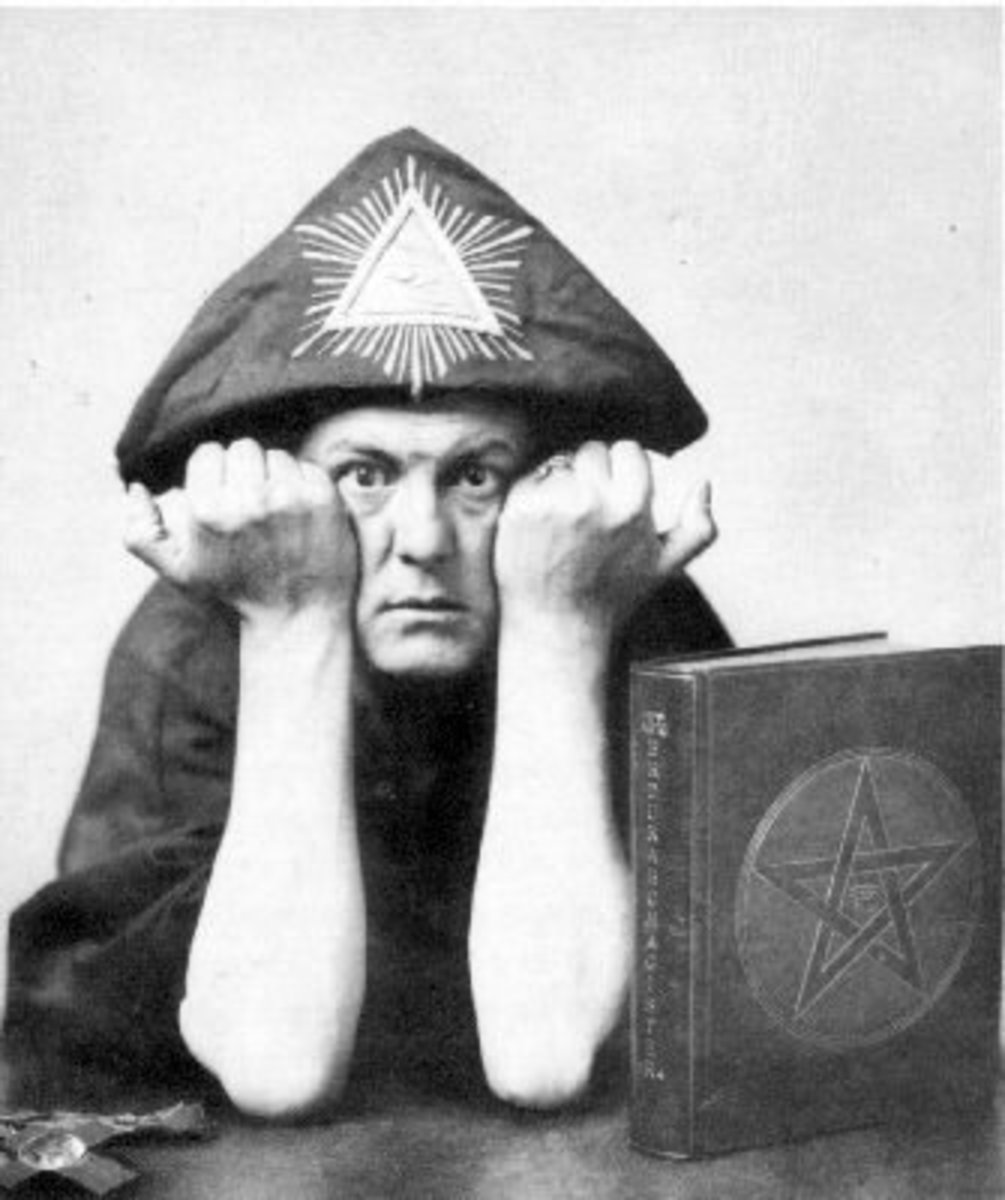 Aleister Crowley: in the 1940s he was said to be The wickedest man in the world, a drug addict, devil worshiper and child molester