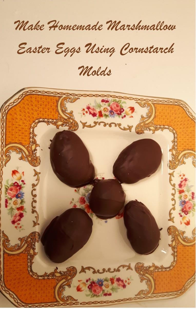 Make Homemade Marshmallow Easter Eggs Using Cornstarch Molds