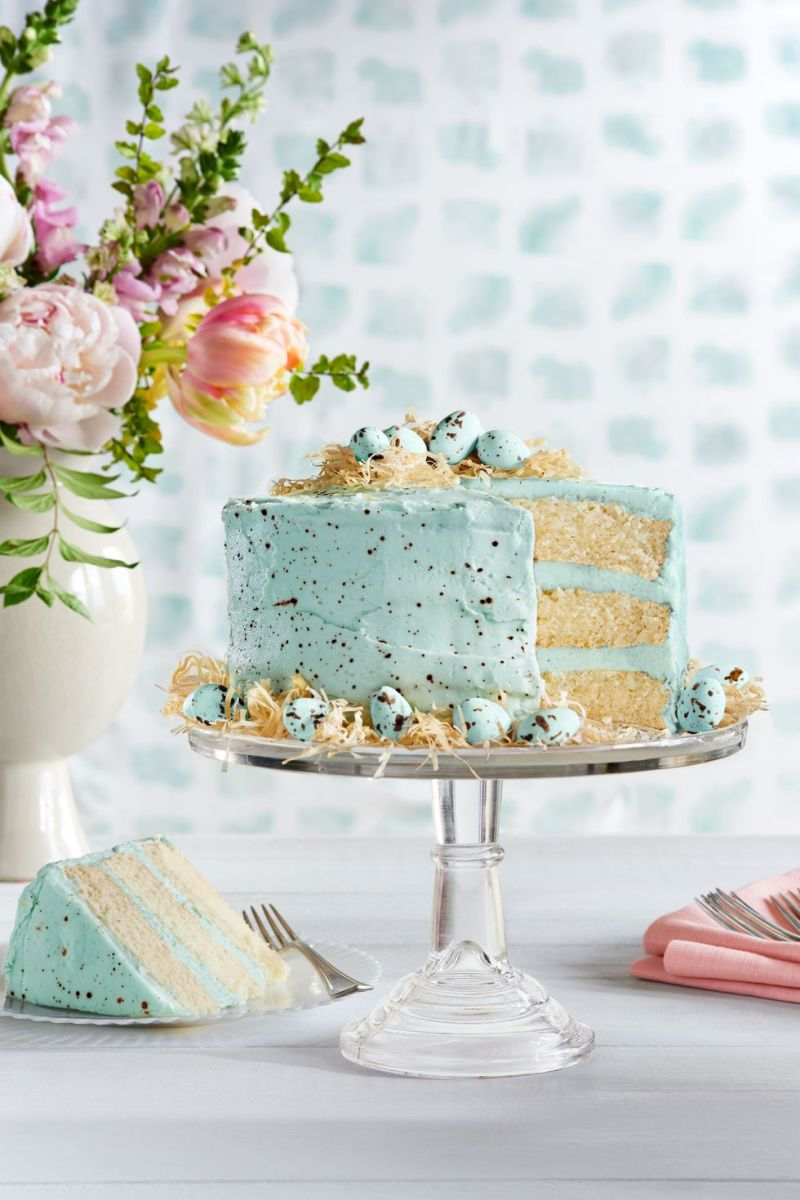 No one will be able to resist this speckled malted coconut cake. It's beautiful to look at and also delicious to eat.