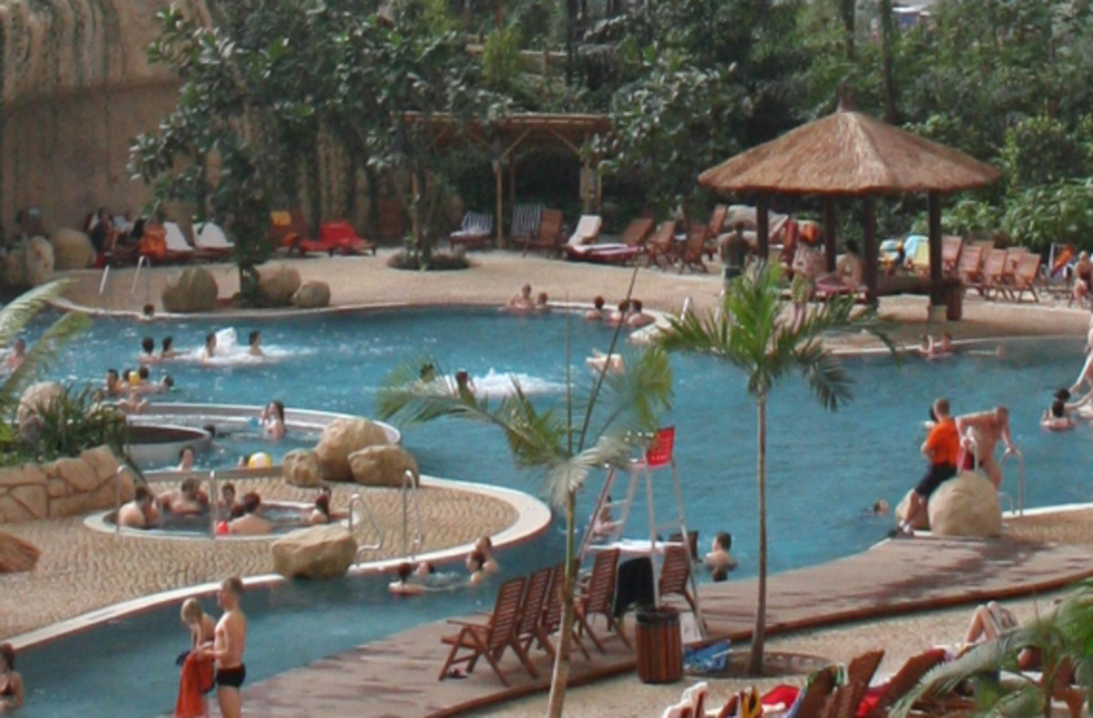 Lagoon at the Tropical Islands Resort in Germany.