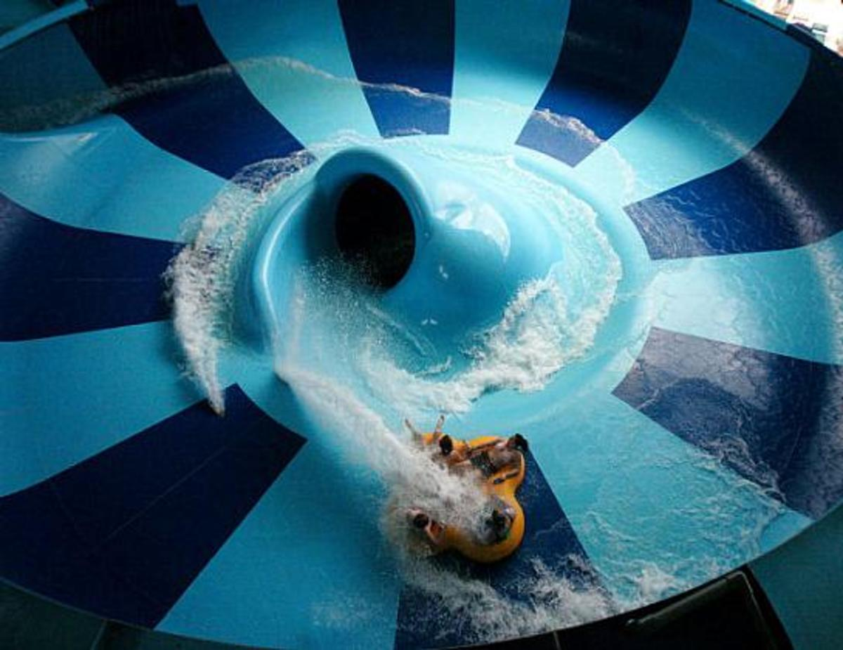 ZipCoaster at Kalahari Resort in Sandusky, Ohio.
