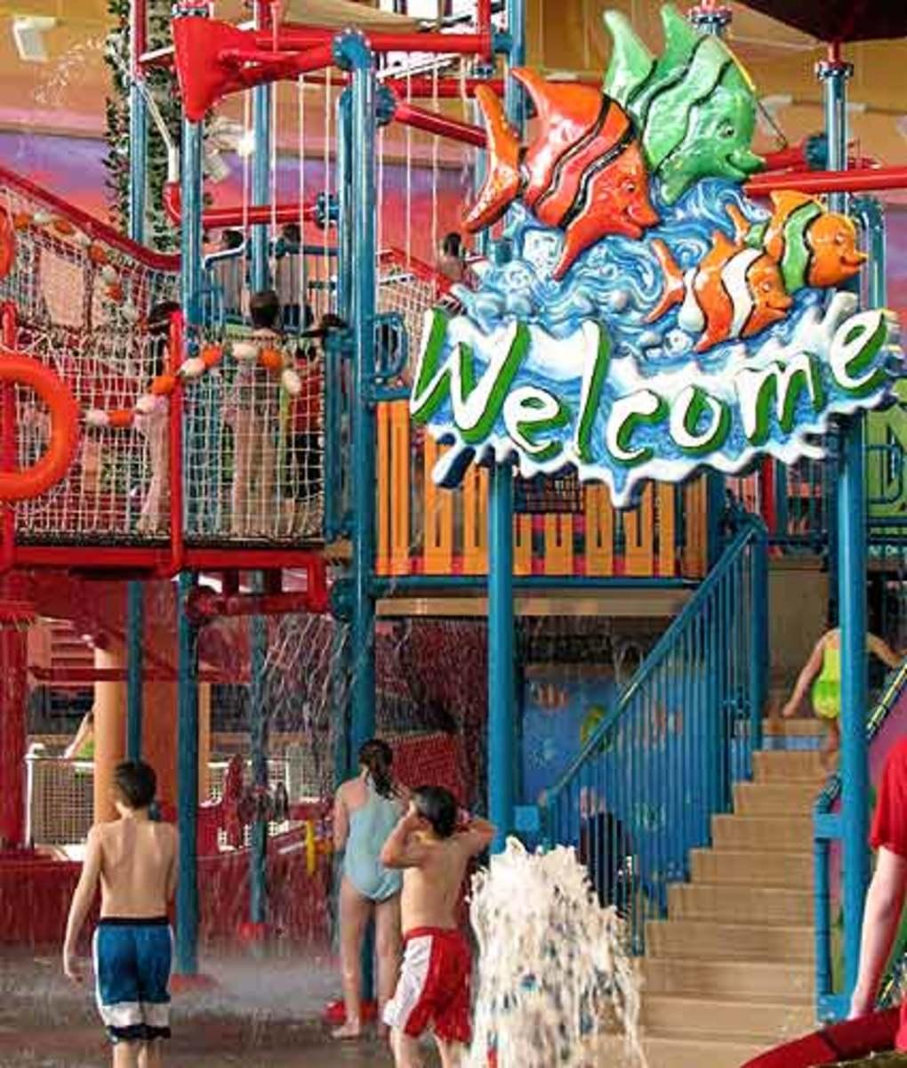 Coco Key Water Resorts have an island theme.