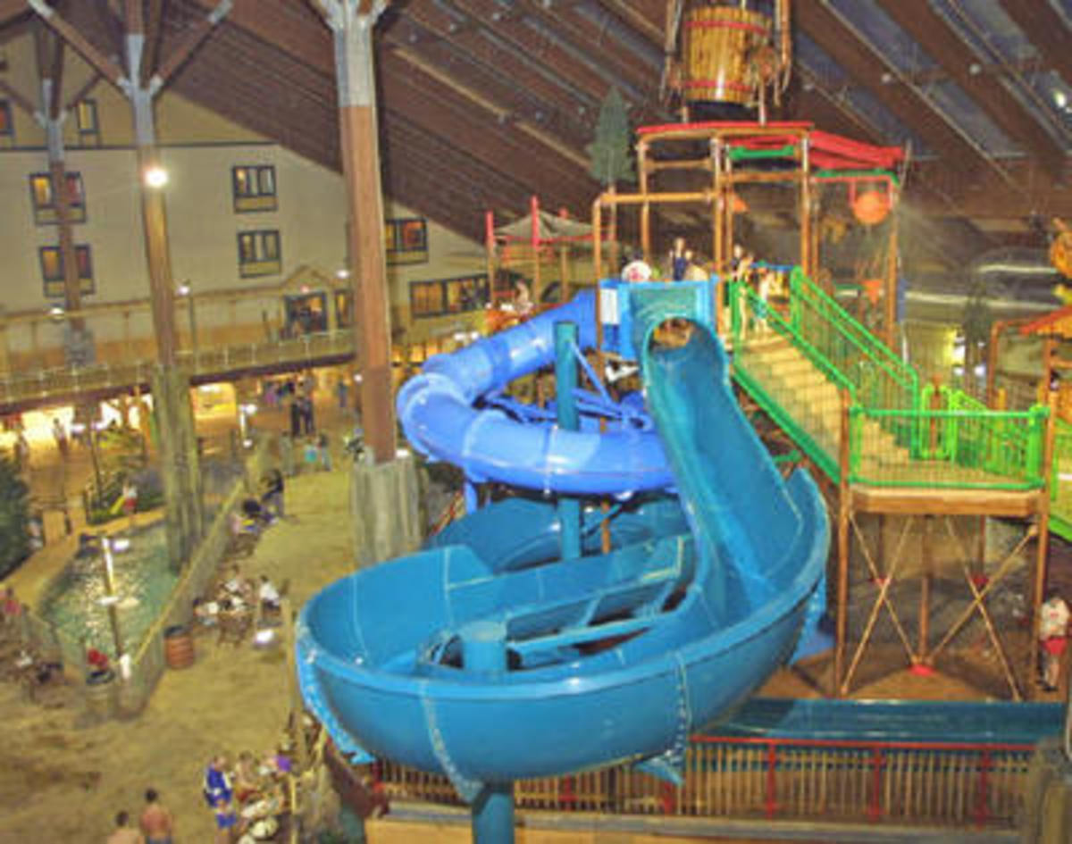 Water slide at Six Flags Great Escape water park