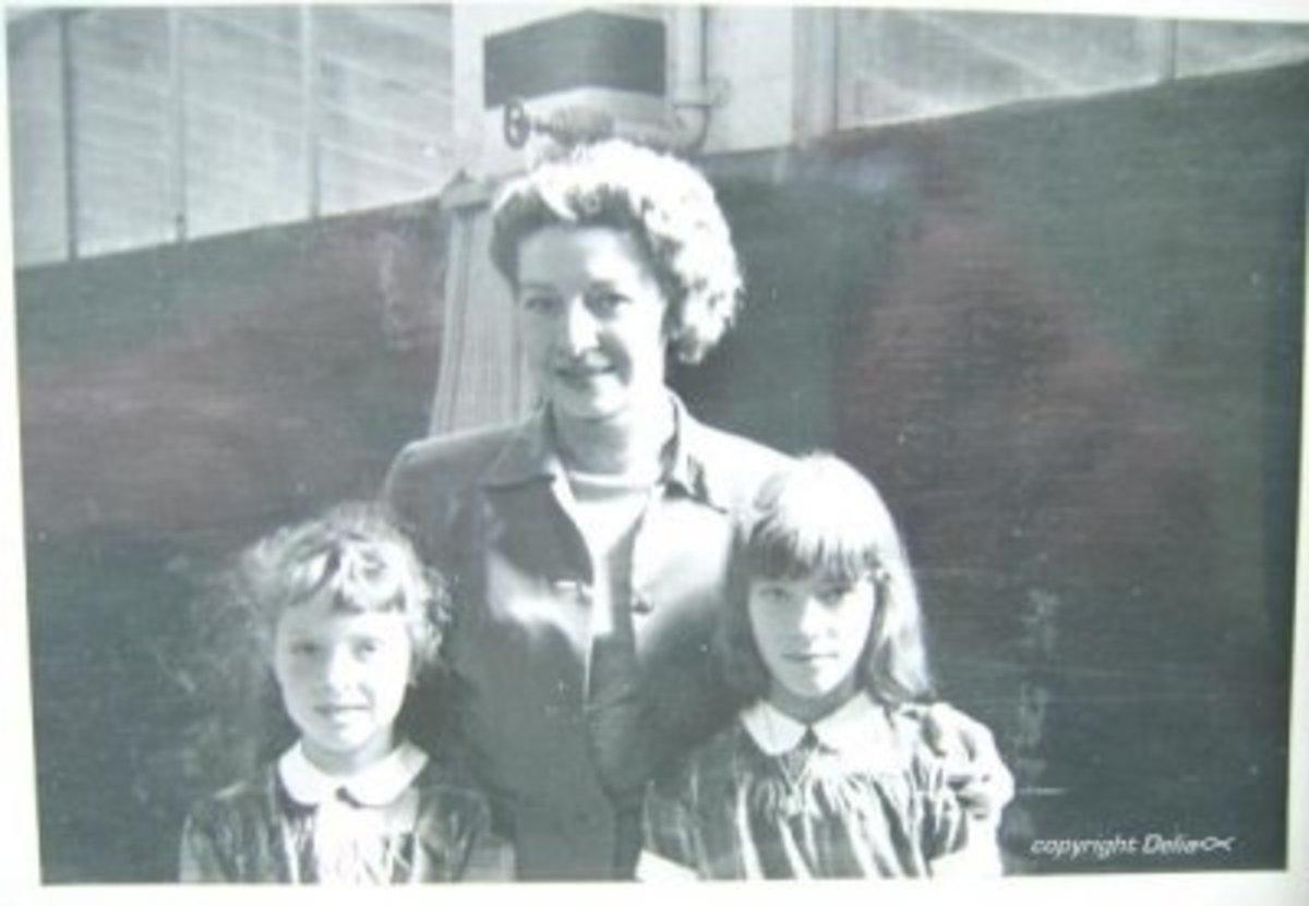 Antoinette Concello, my sis & me at Cow Palace San Francisco circa: 1951