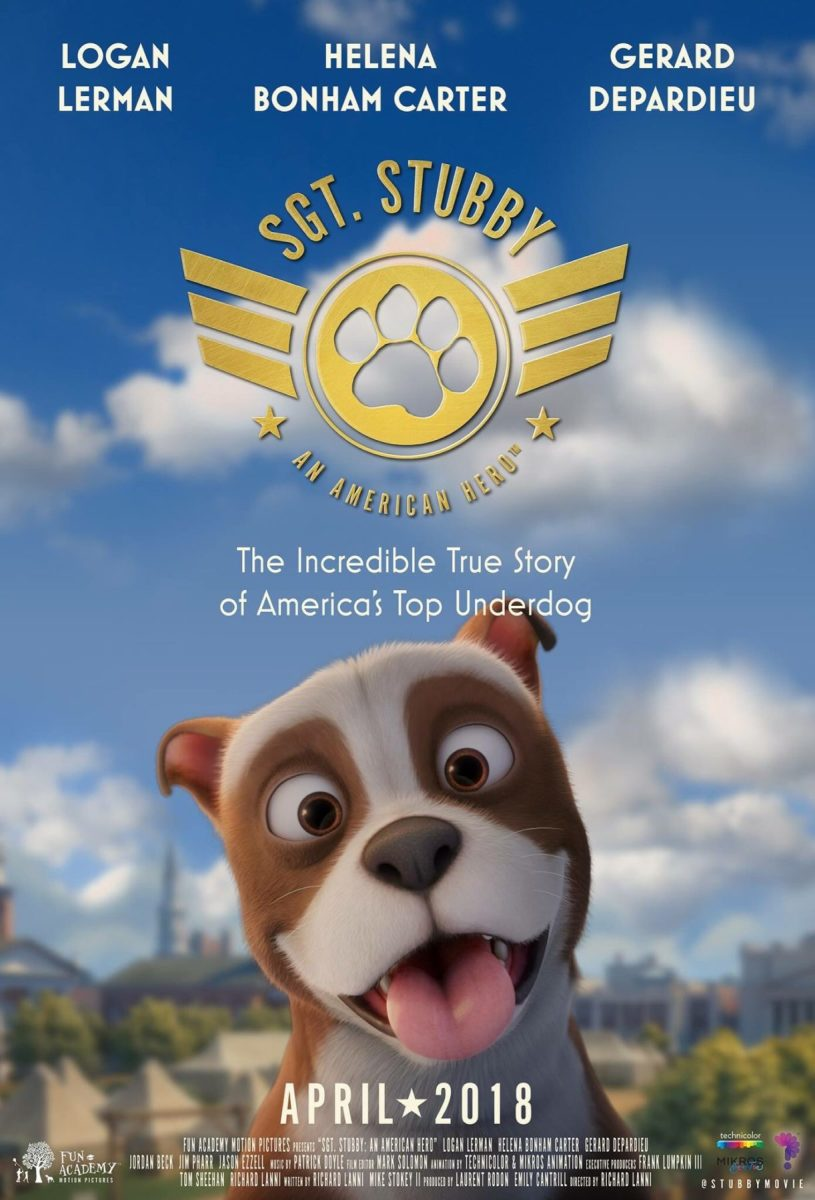 Poster for animated movie about Sergeant Stubby