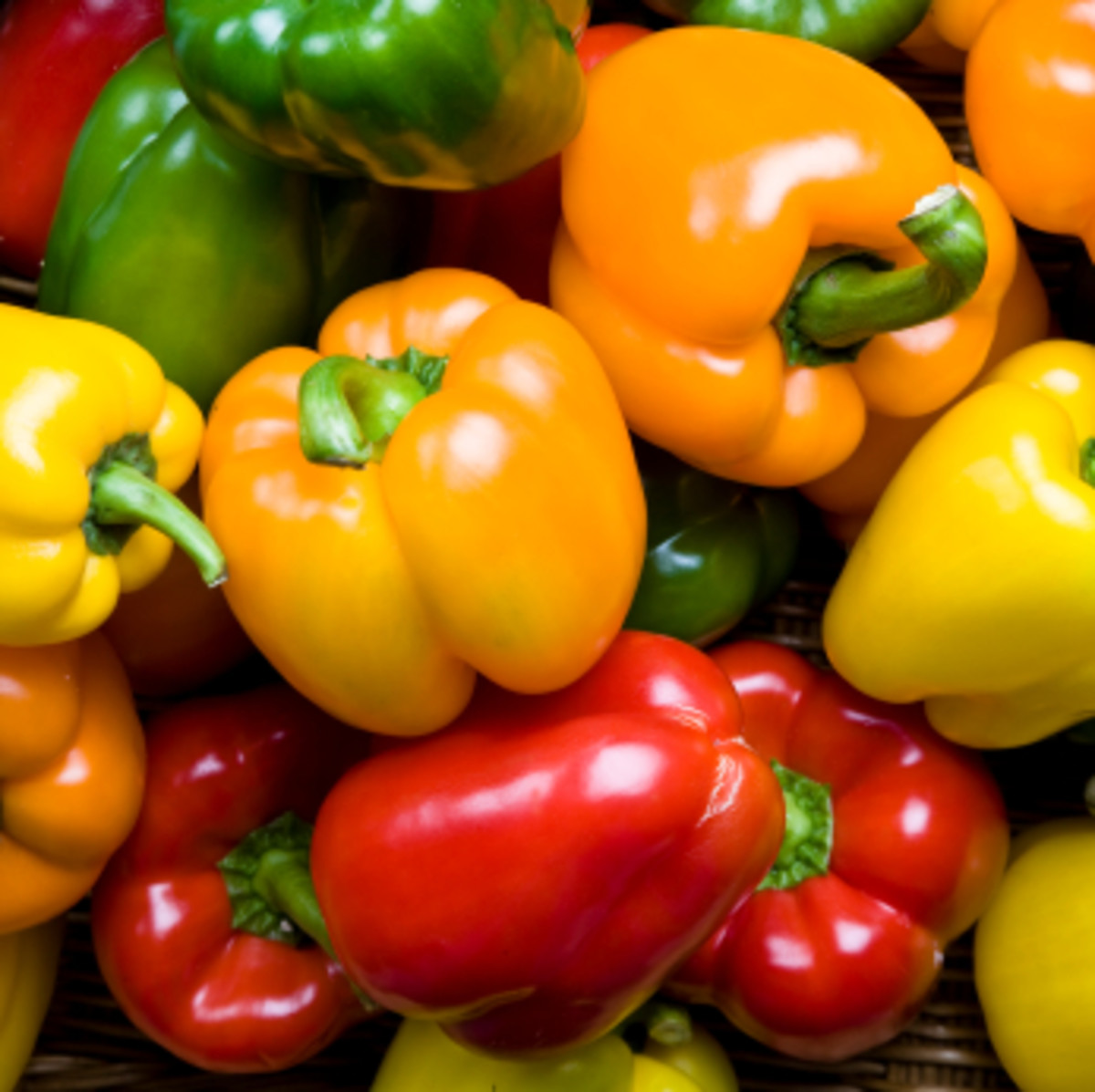Bell peppers come in many colors!