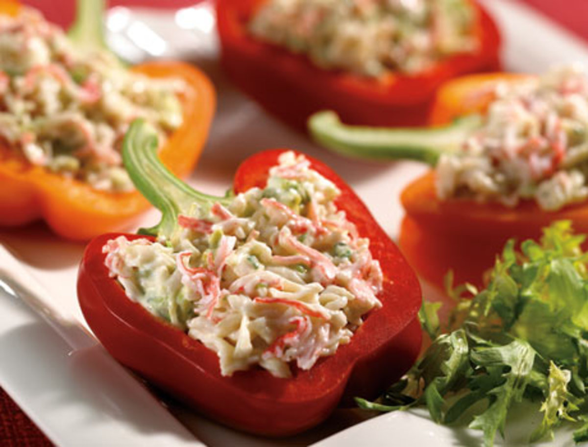 Bell Pepper Stuffed With Crab Salad