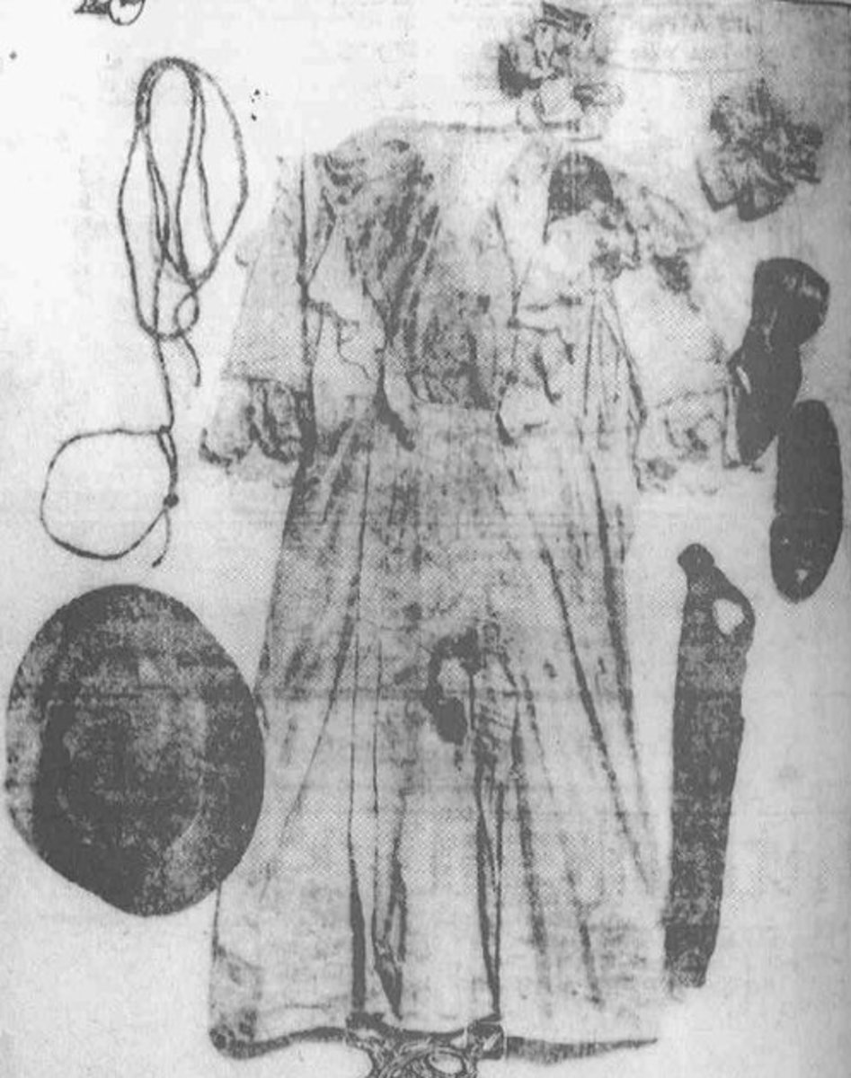 The clothes Mary Phagan was wearing when she was murdered.  Maybe the photos of lynching victims should be accompanied by autopsy and crime scene photos of the victims they allegedly murdered.