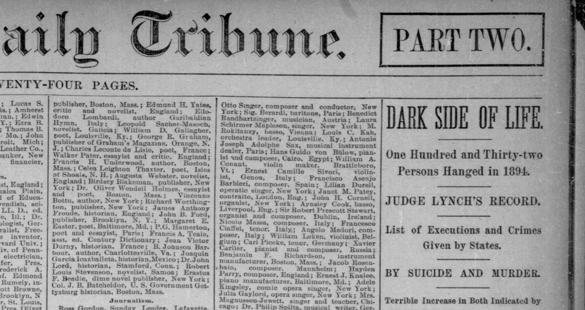 Tragic deaths, 1894