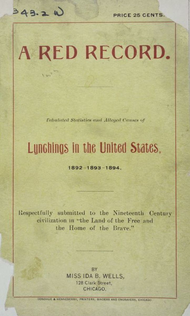 Cover of A Red Record, Ida B. Wells' essay on lynchings in the United States.