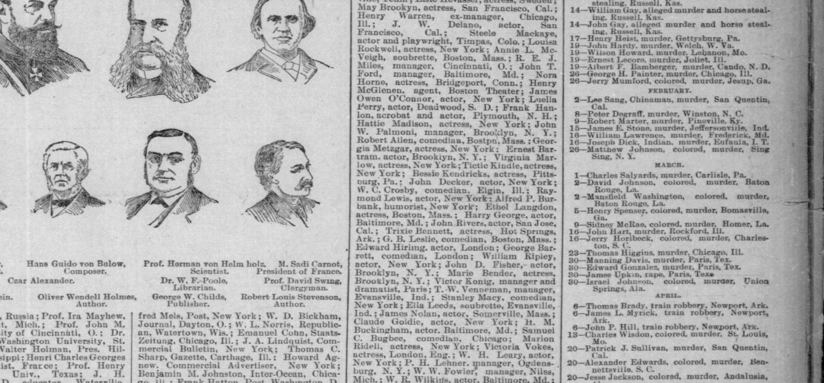 Tragic deaths, 1894 (3)