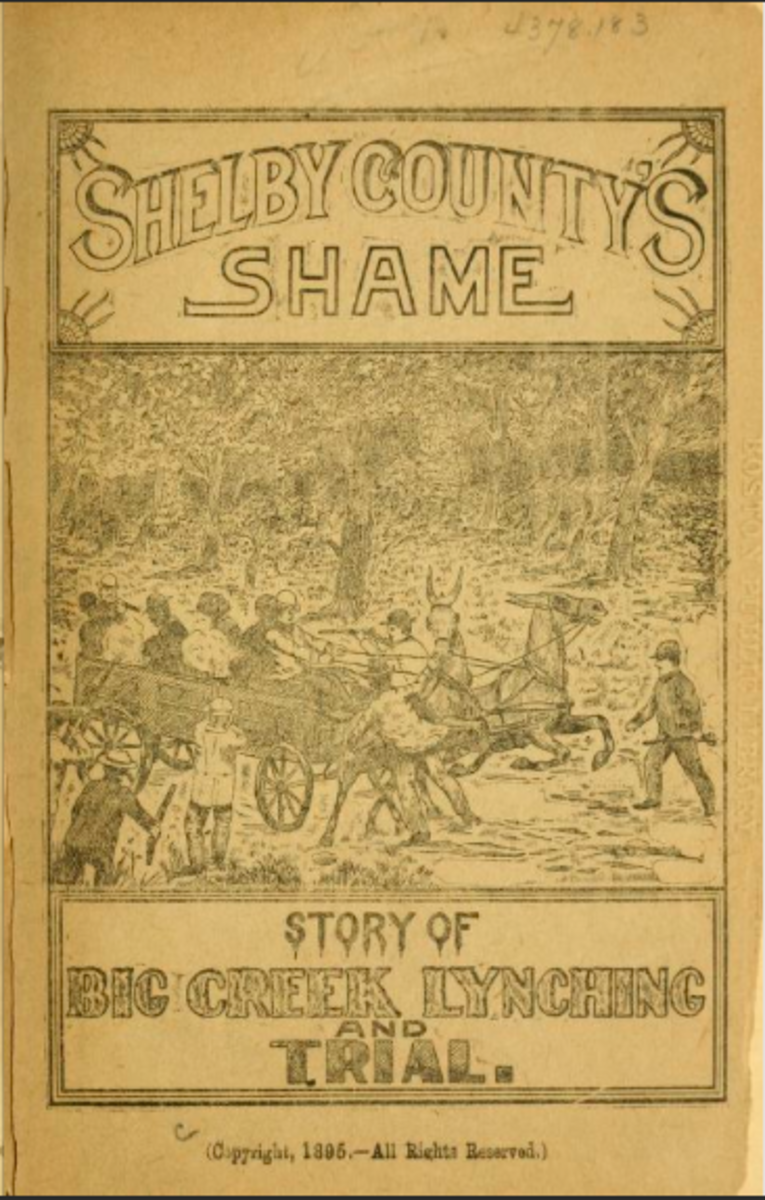 Cover of Shelby County's Shame: Story of the Big Creek Lynching and Trial.