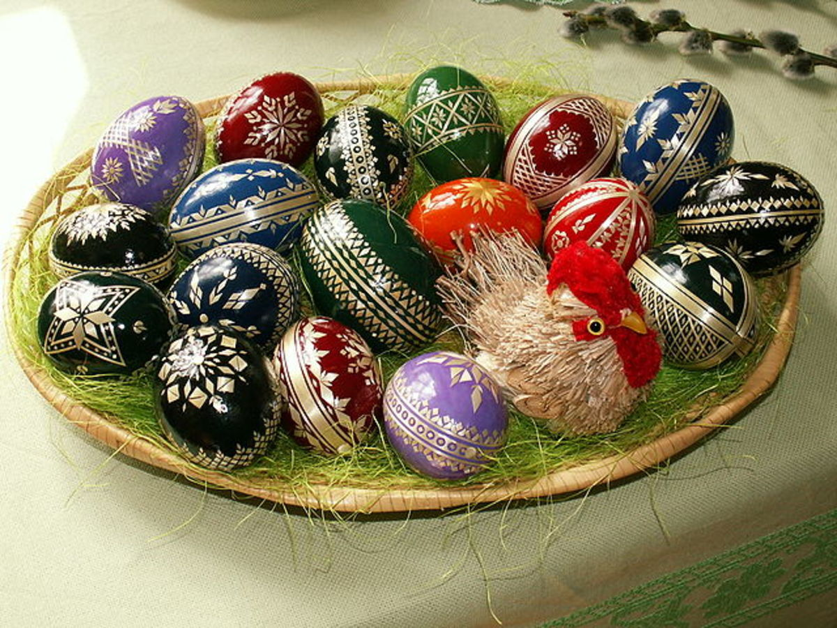 Plate of Easter eggs from Czech Republic