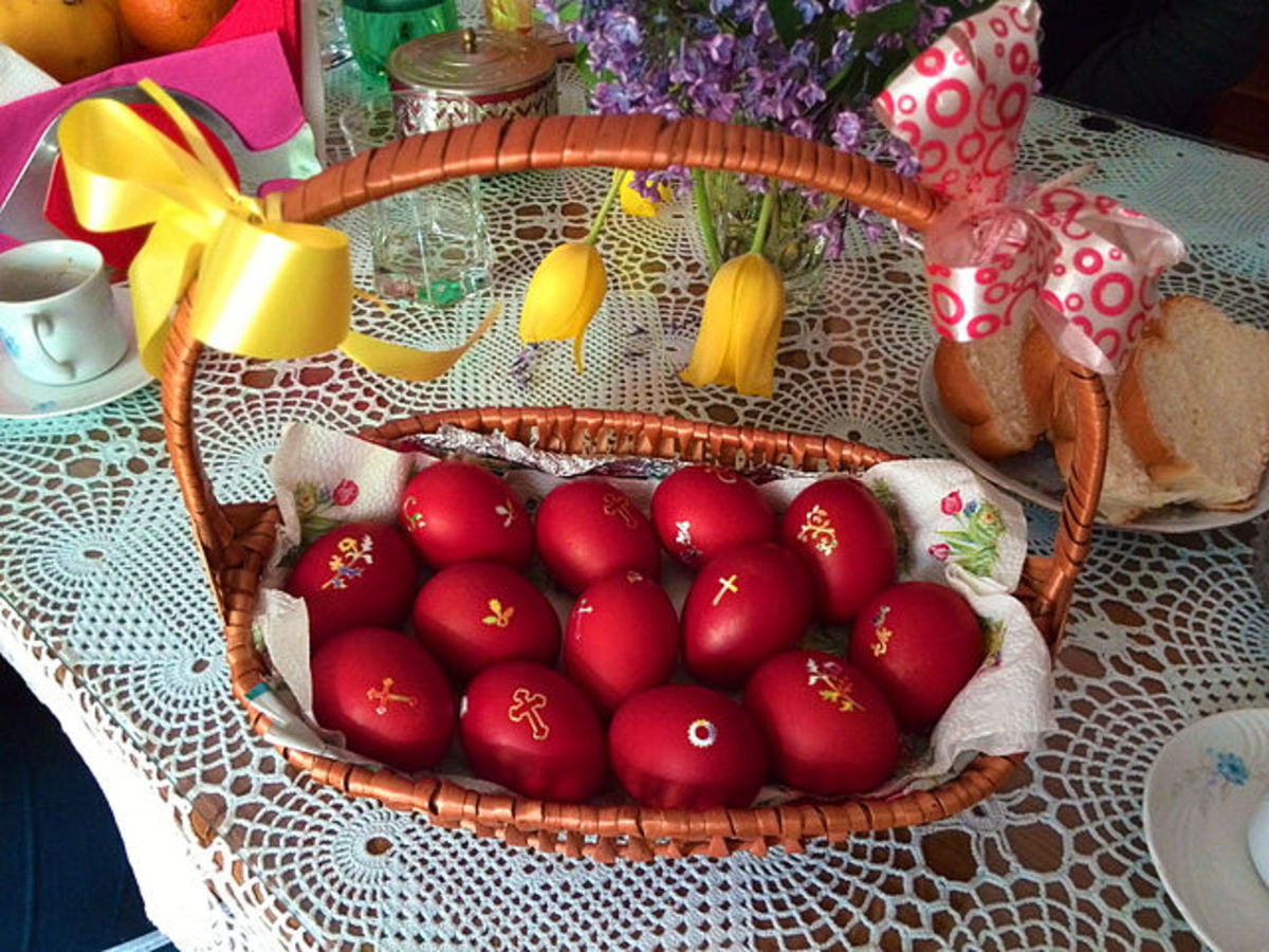 Easter eggs in Bitola, Macedonia.