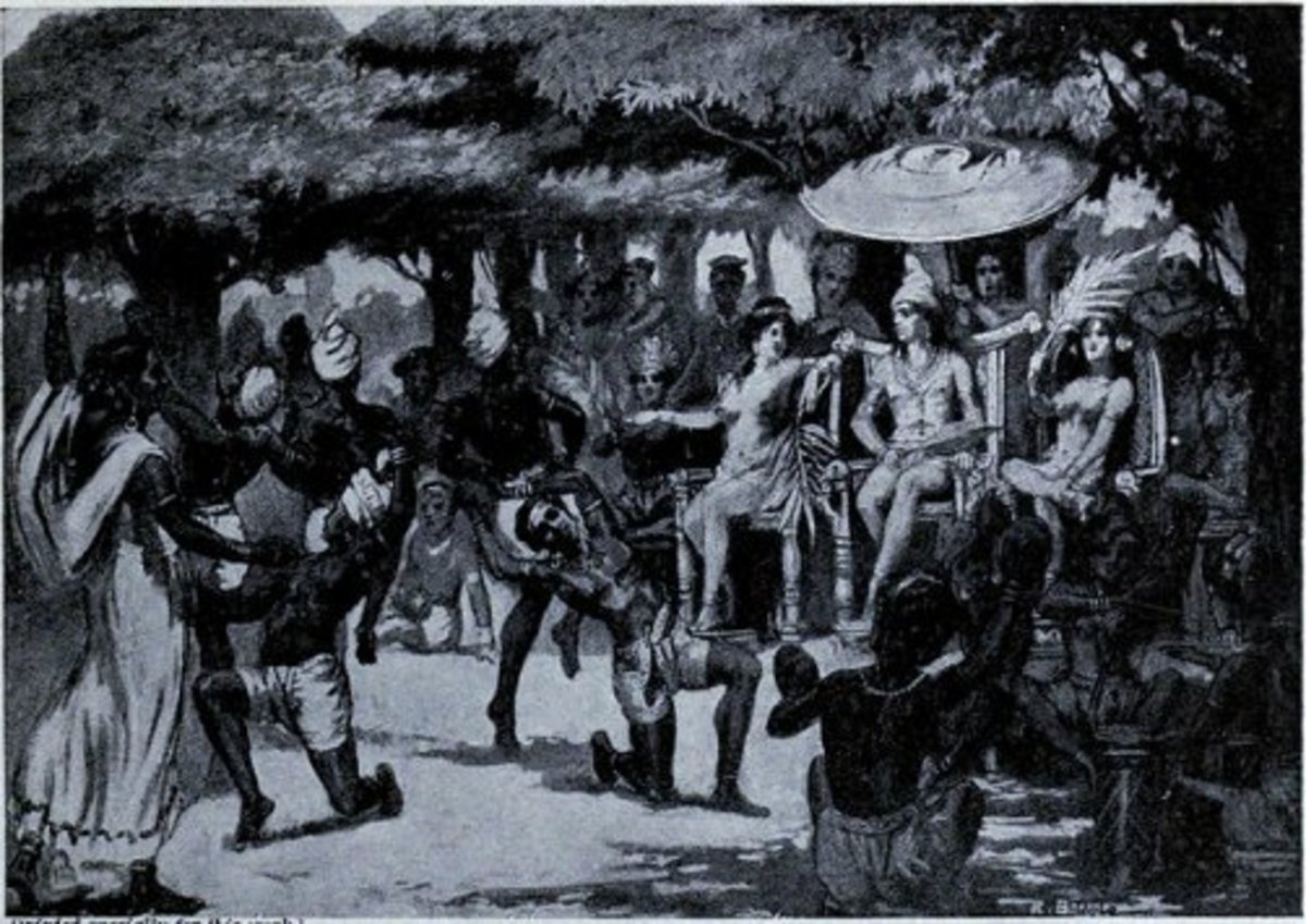 Marriage of Chandragupta and Helen