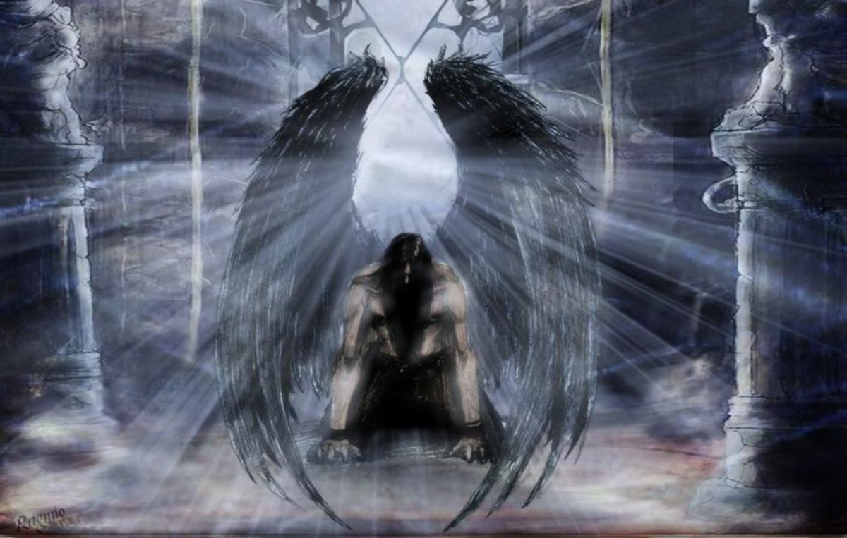 Gothic Fallen Angel Art