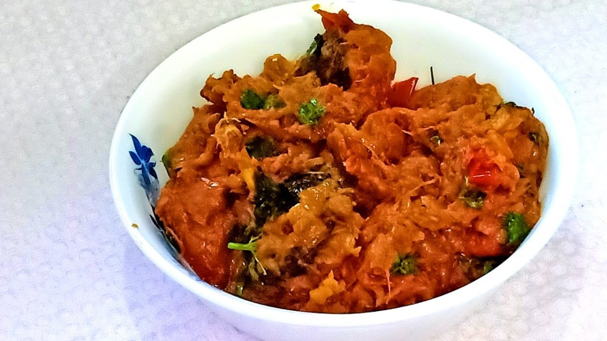 Baingan ka bharta is a popular North Indian eggplant dish