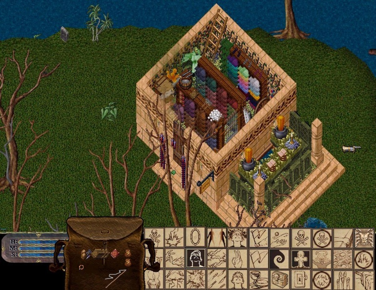 One of the first houses I owned in Ultima Online.