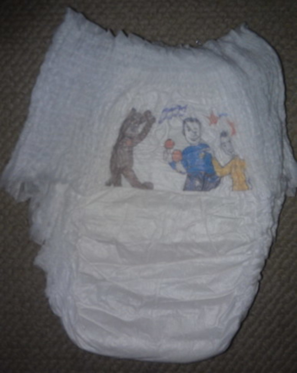 Picture of front of the new Baby Love 2012 nappies showing an even silkier fabric outer.