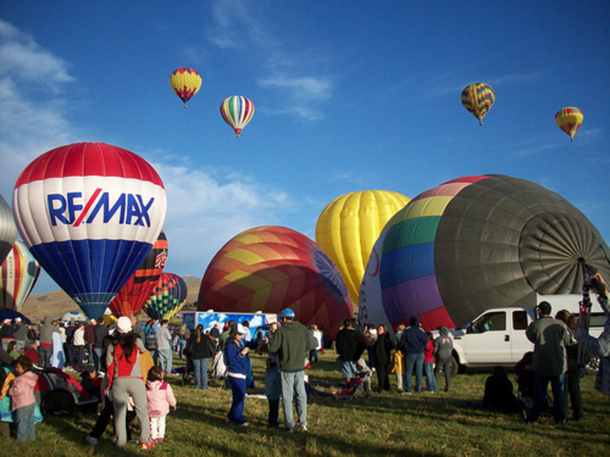 One of the times we went to the Great Reno Balloon Race, 2009