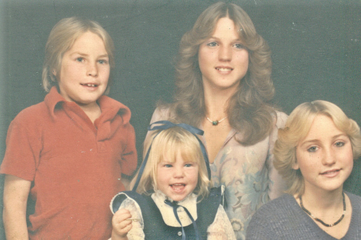 My brother, Shane; me; my sister, Kimmy; and my sister Kelly. 1983