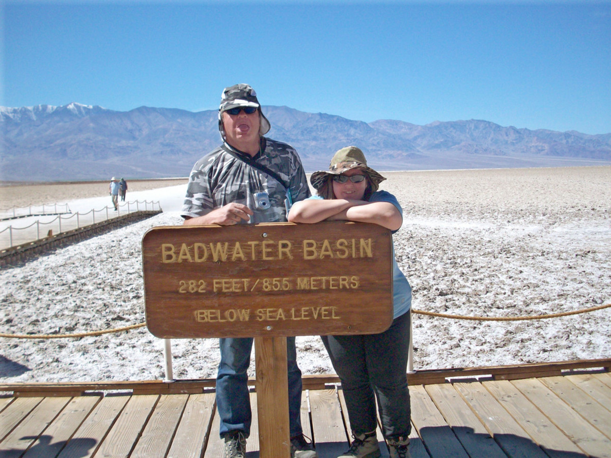 Badwater Basin is the lowest point in the contiguous United States. It is 282 feet below sea level and is almost within view of the highest point in the contiguous US, Mt Whitney.