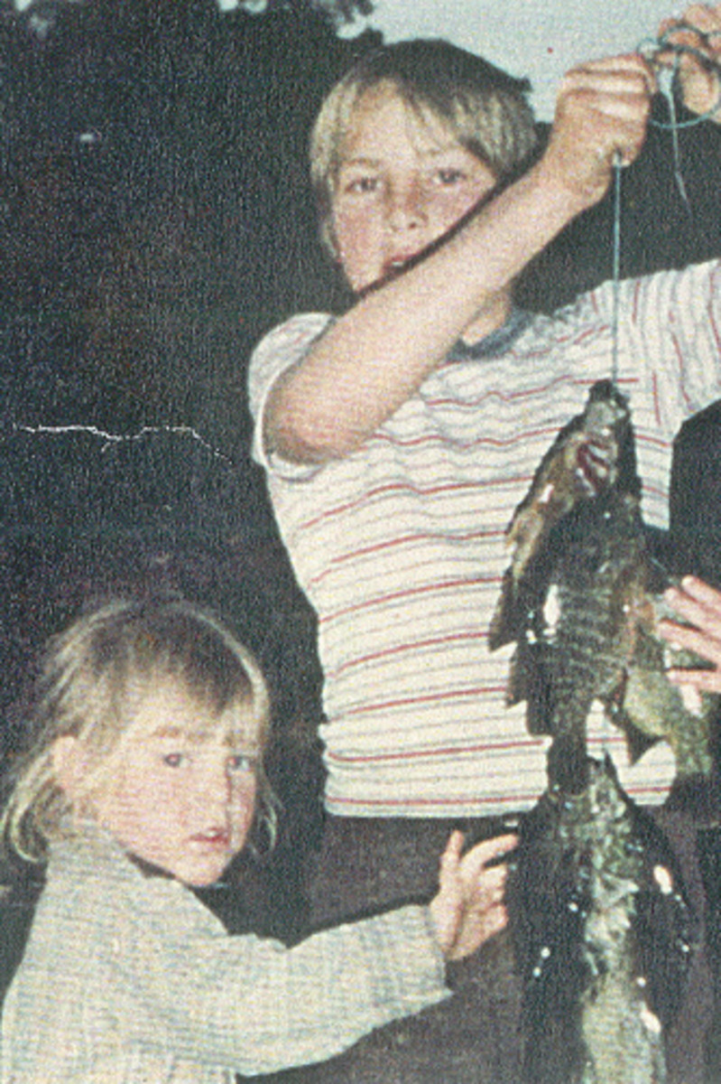 My brother and I, after fishing in 1983