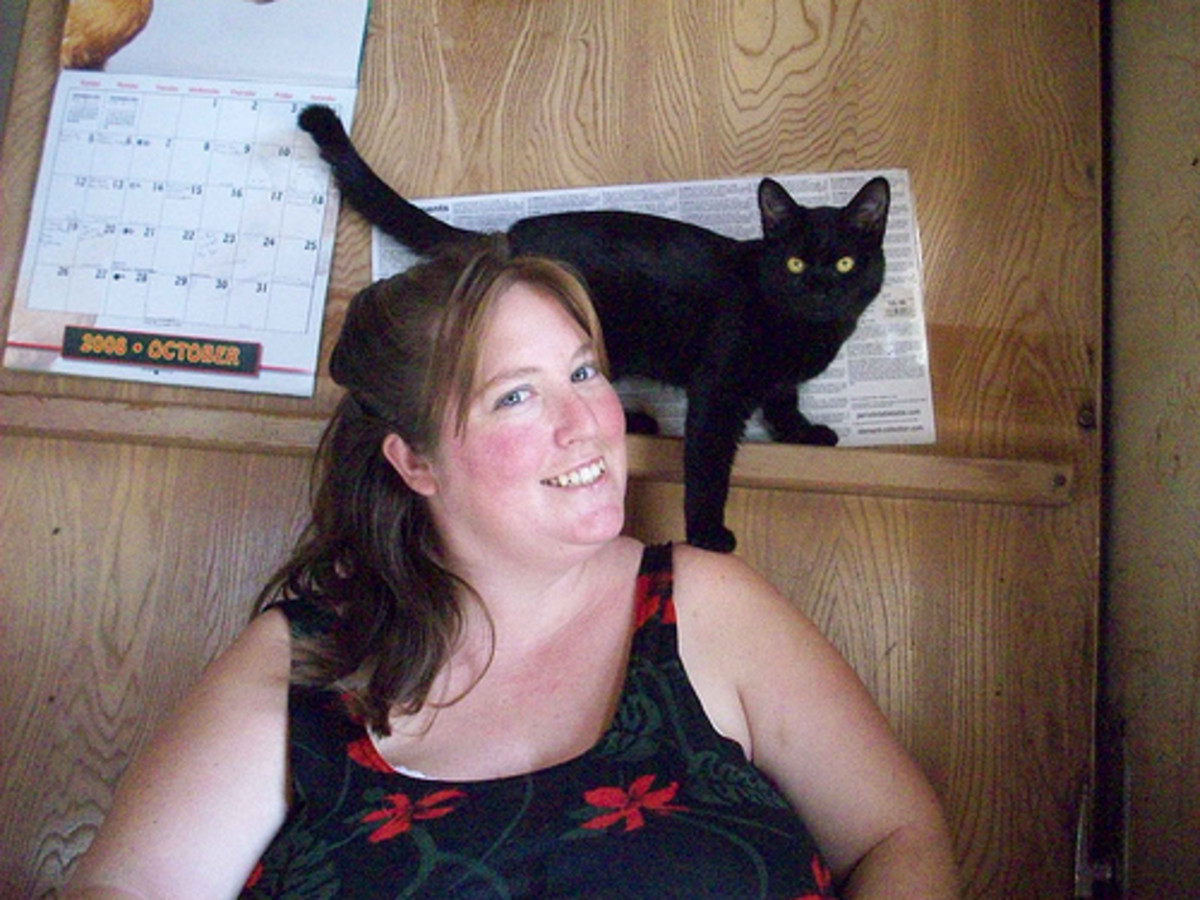 Me and my cat, Butte, October 2008