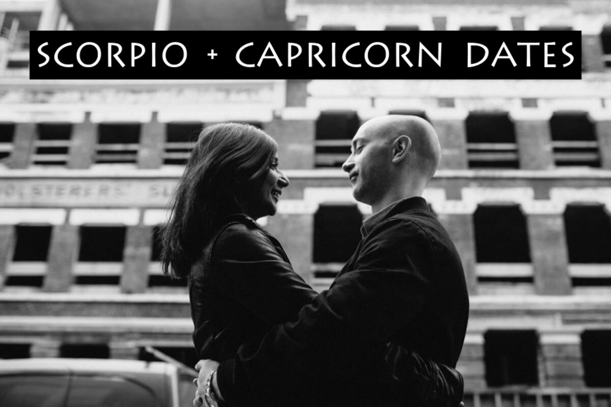 Scorpio and Capricorn dates: (1) go on a hike for waterfalls, (2) picnic on a beach, (3) get matching tattoos, (4) explore a graveyard, (5) do something artistic together like write songs.