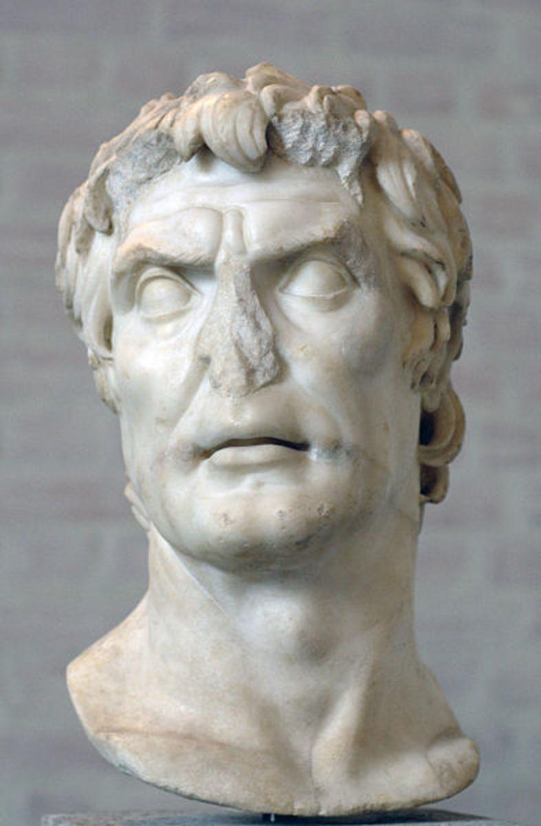 A bust of Cornelius Sulla.