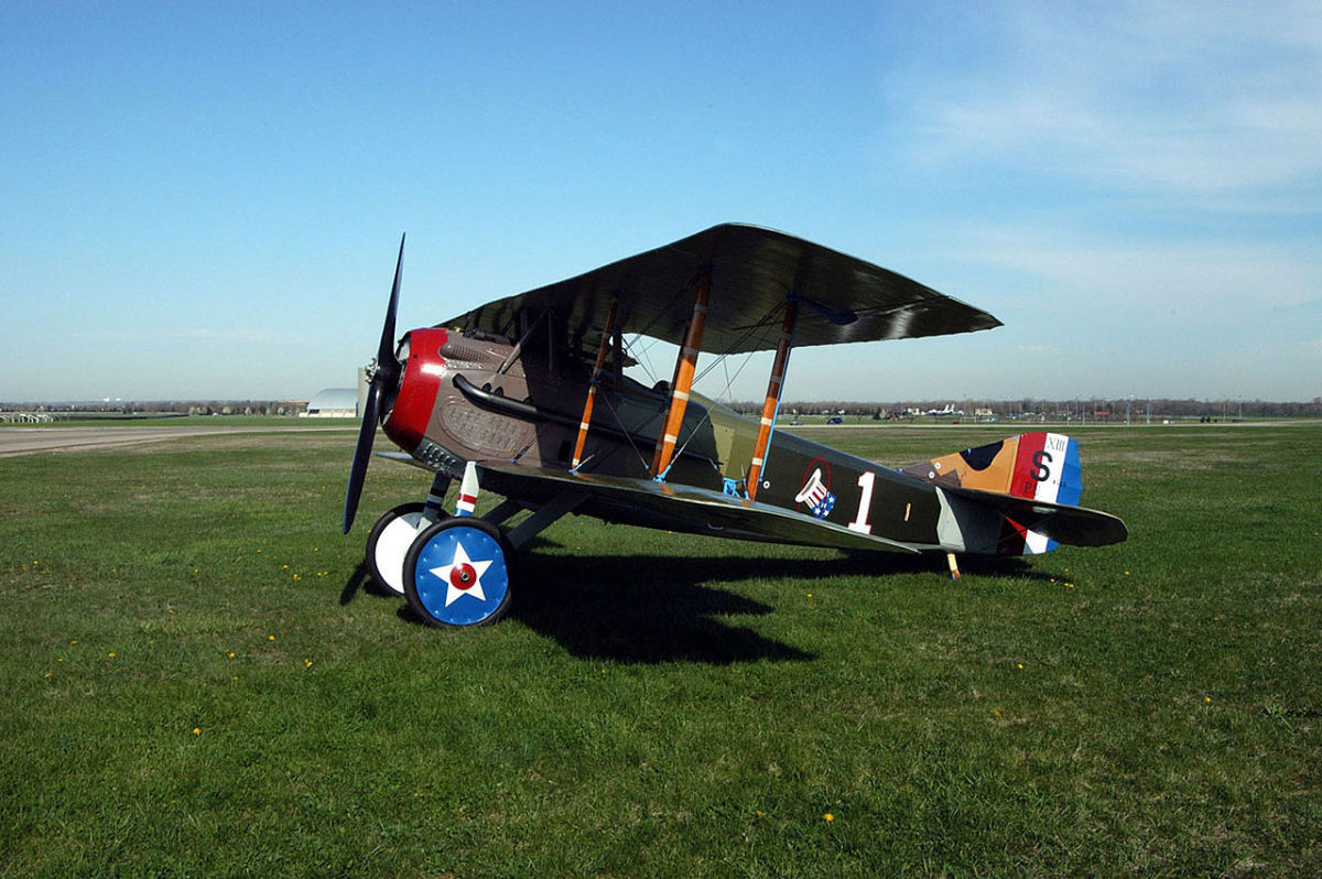 The SPAD Rickenbacker flew over the Western Front during the First World War.