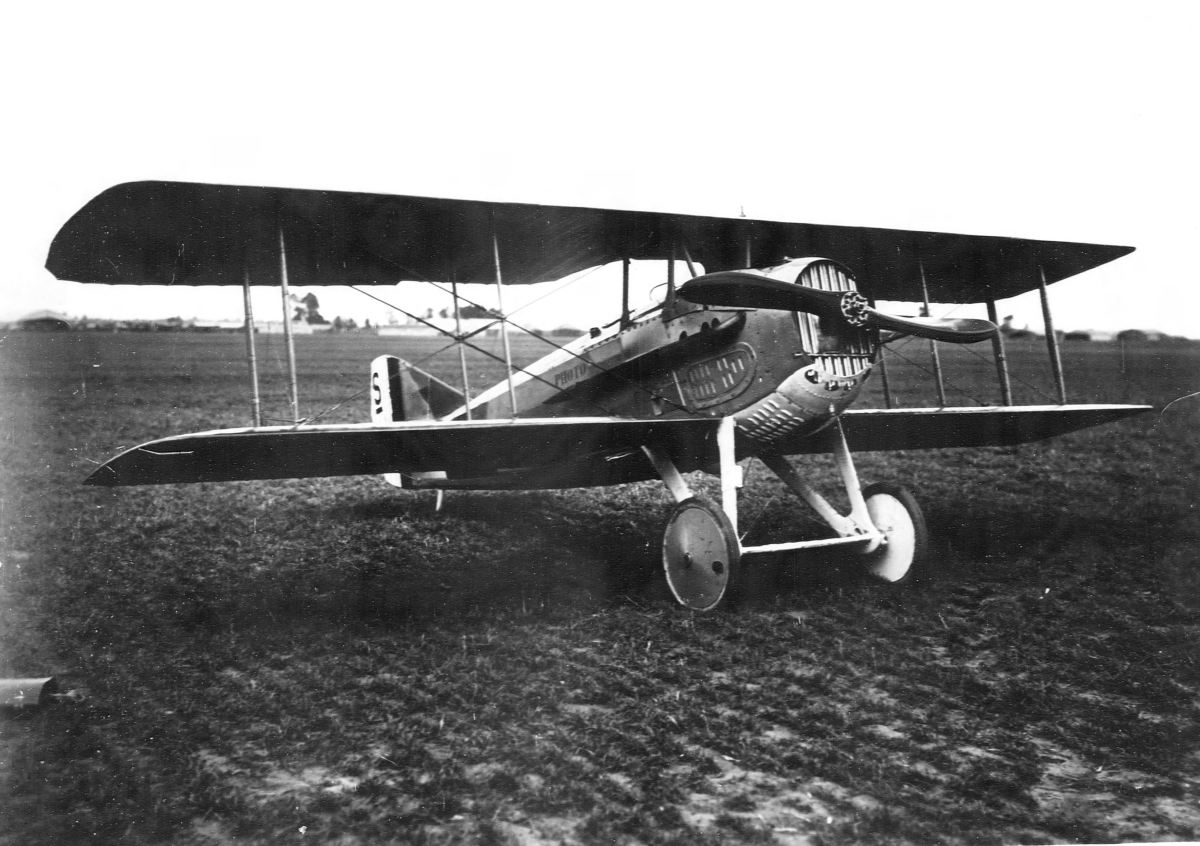 A SPAD S.XIII at Air Service Production Center No. 2, Romorantin Aerodrome, France, 1918.
