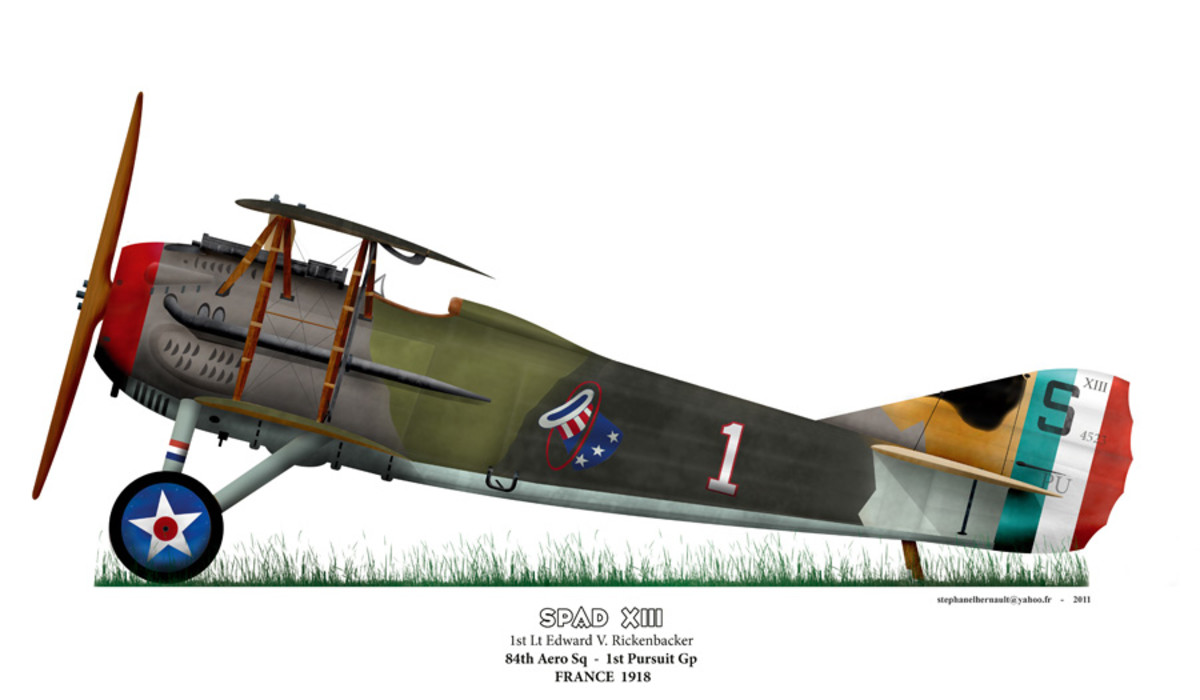 SPAD XIII Edward Rickenbacker the plane he would claim most of his victories with over the Western Front.