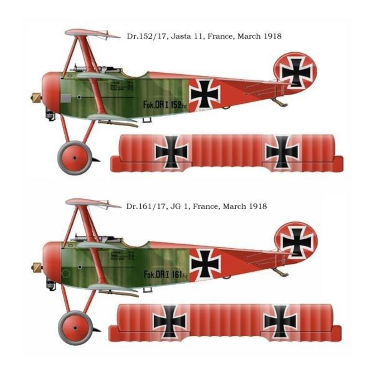 Fokker DR1 triplane similar to the one Rickenbacker shot down on September 25,1918.