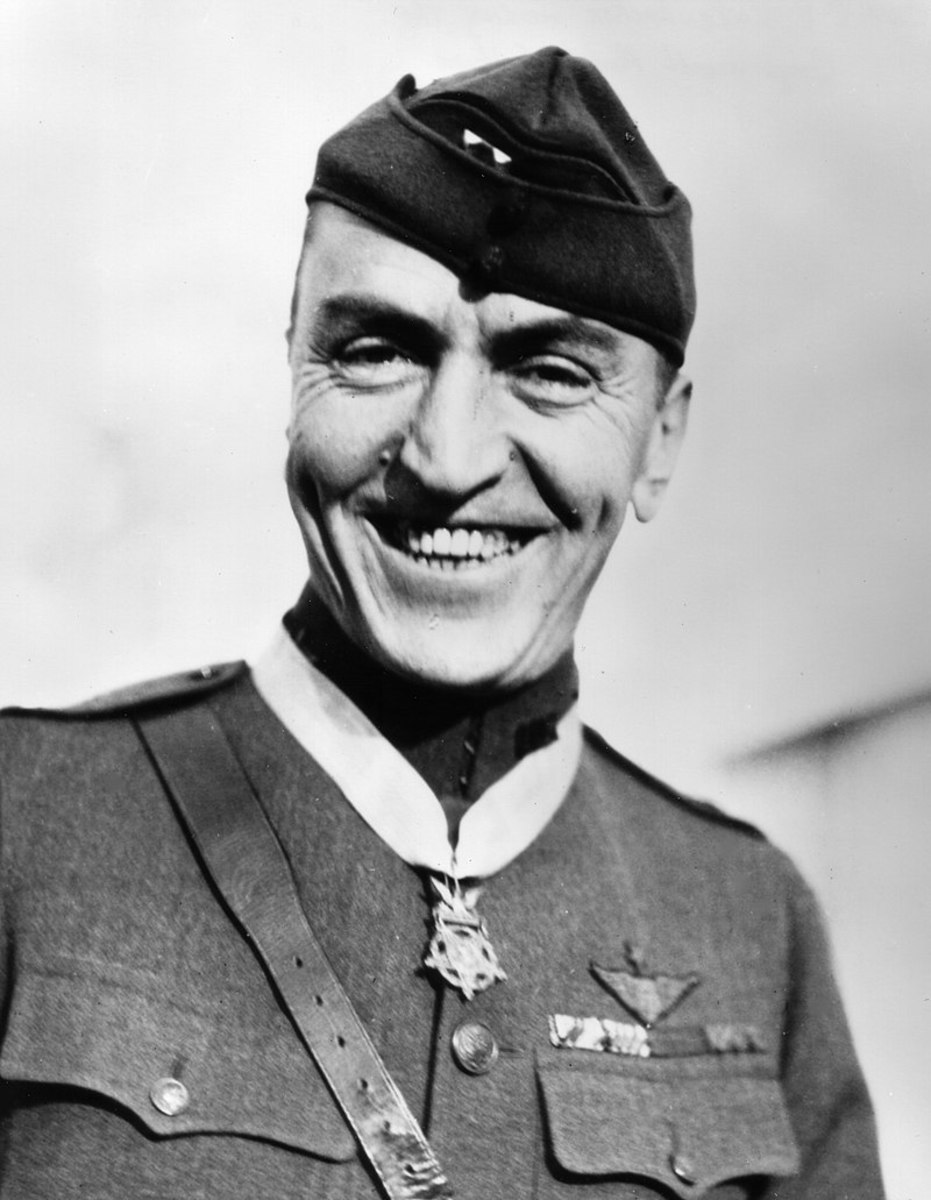 Eddie Rickenbacker America's most successful fighter pilot in the First World War Medal of Honor recipient claiming 26 aerial victories. He was born in Columbus Ohio October 8,1890.