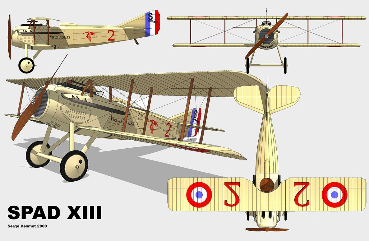 The French SPAD XIII  proved to be one of the most capable fighters of the war
