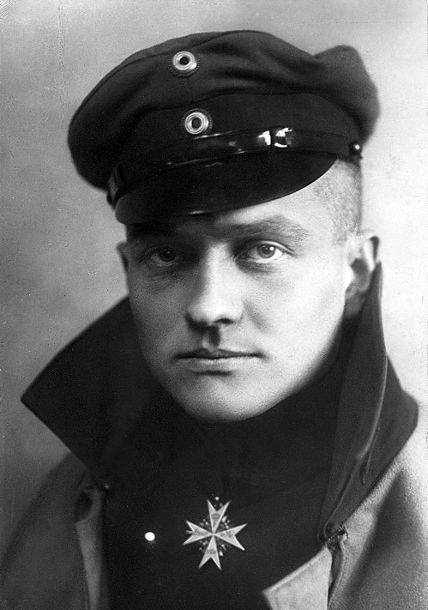 "The famed German fighter Ace ""Red Baron"" of the First World War. He was shot down April 21,1918, and die most likely from groundfire."