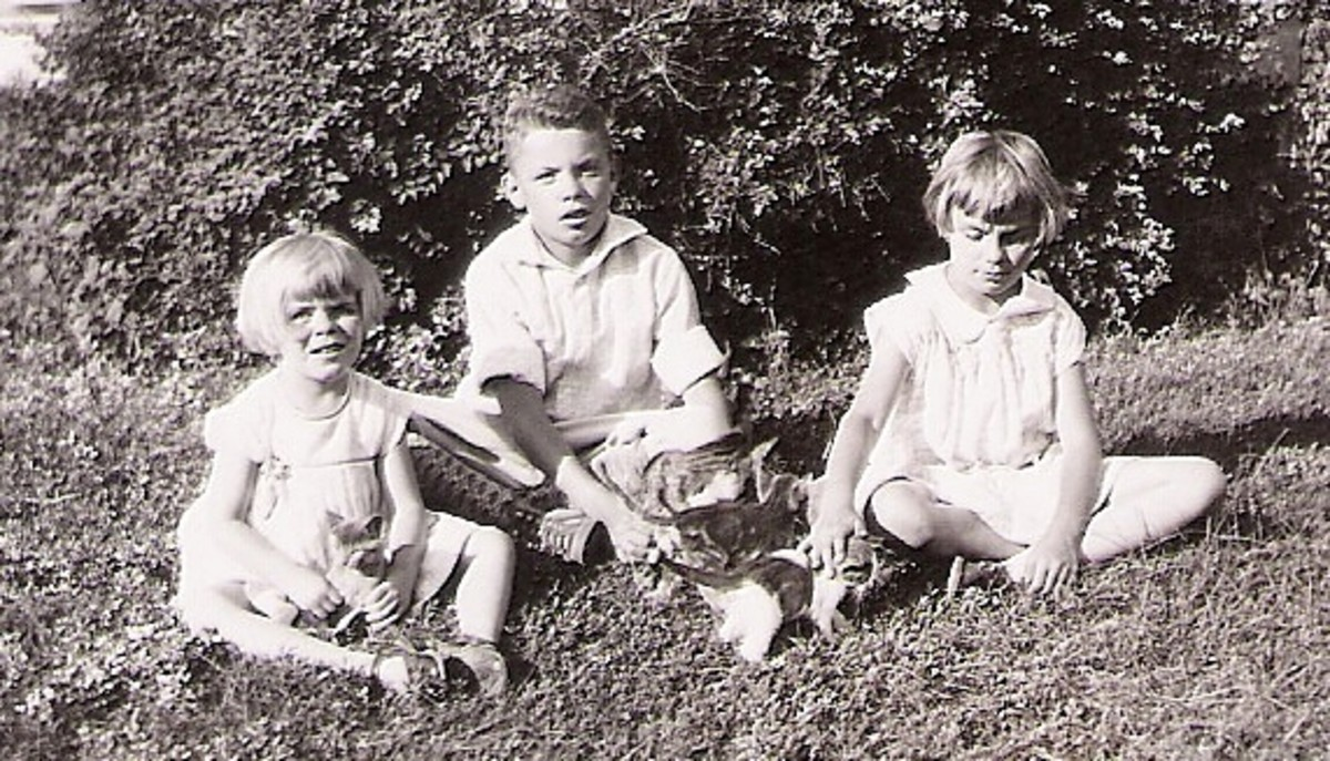 My mother with her brother and sister as children