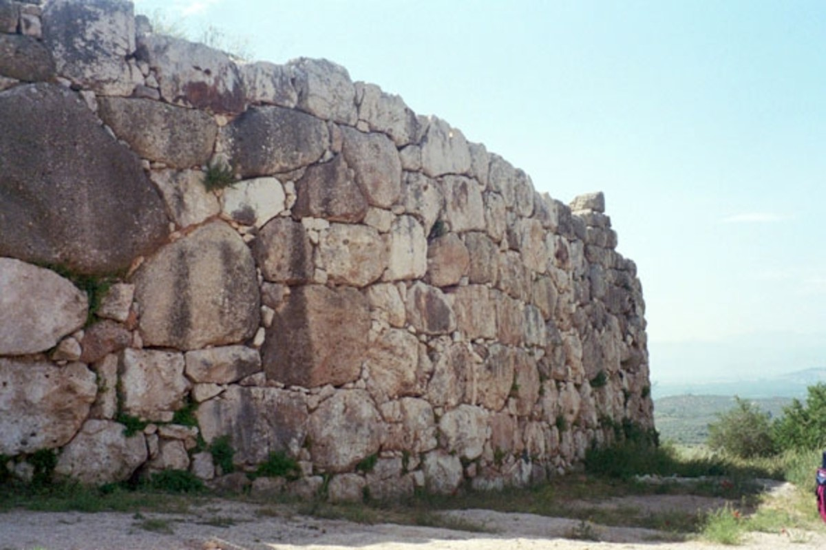 A Cyclopean wall. Classical Greeks had legends of how gods or giants had built them.