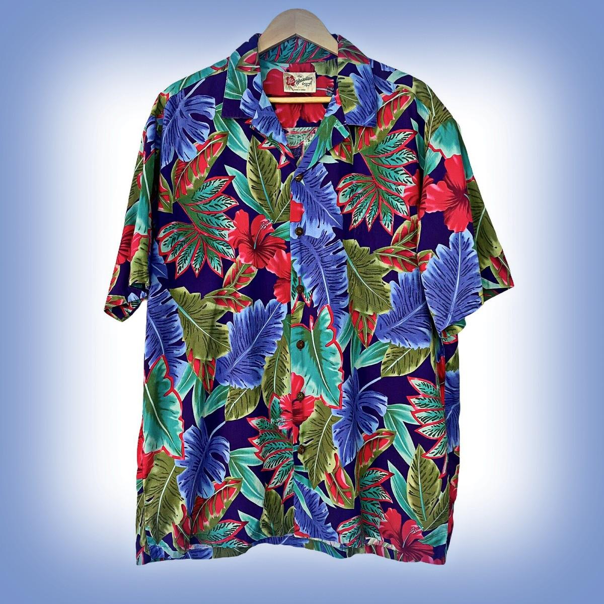 Hilo Hattie Colorful Men's 2XL Cotton Short Sleeve Hawaiian Shirt Floral Palm Leaf … An amazing Floral Print Short Sleeve shirt.