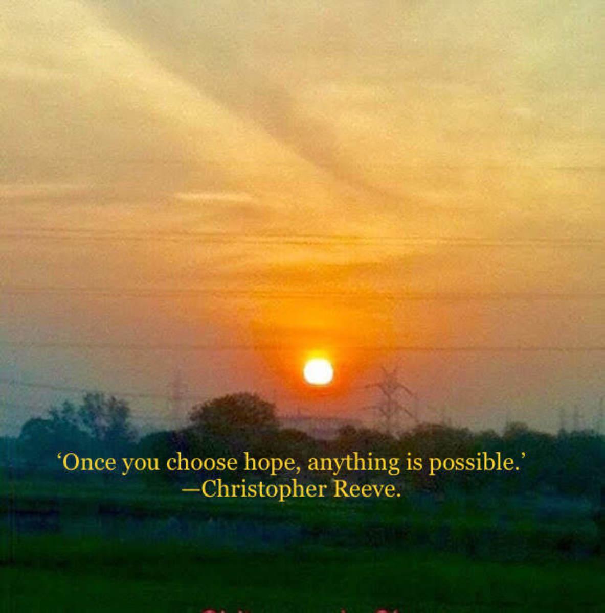 Sunrise—New day, New Hopes