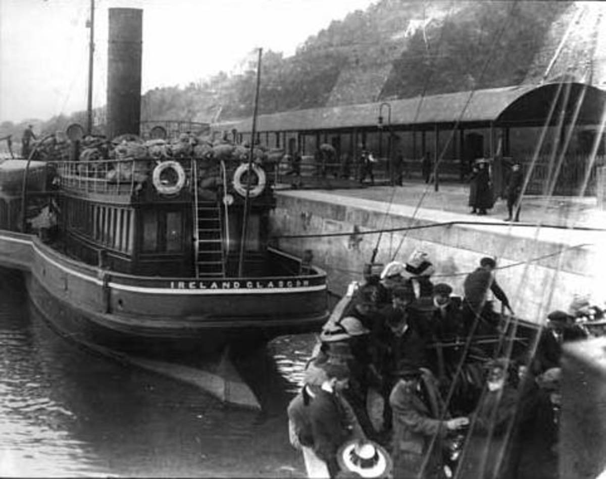 The 2 Tenders that brought passengers to the Titanic at Queenstown in Ireland.