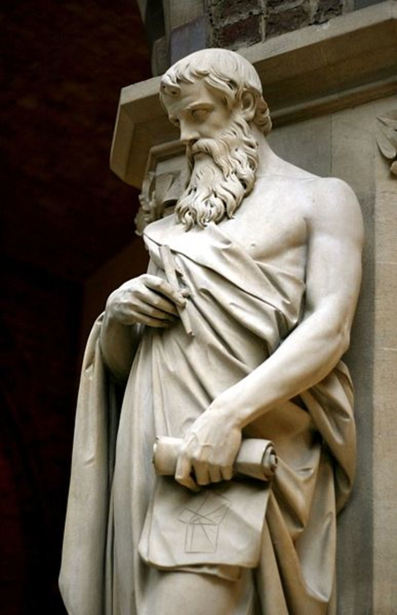 Statue of Euclid, Oxford University Museum of Natural History, Oxford, UK