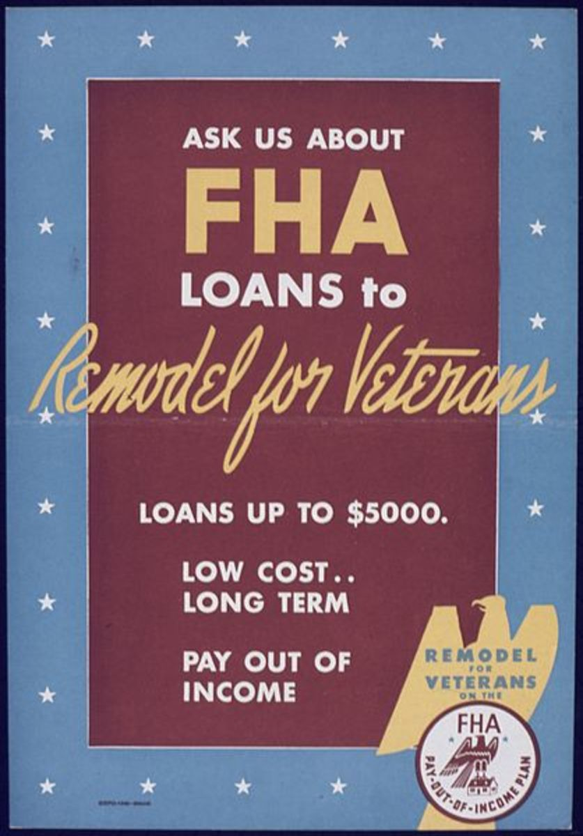 FHA loans are government insured and require a lower down payment.
