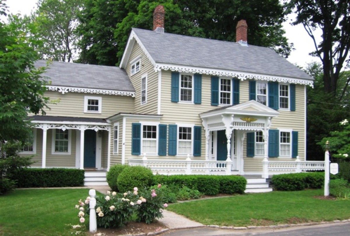 An 1855 Victorian House from Connecticut. This might be out of the range of many first-time buyers.