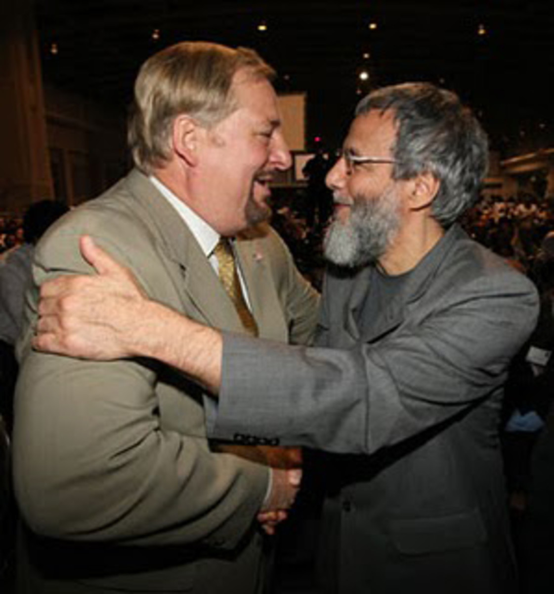 "Rick Warren with his new best friend, Christ rejector Cat Stevens, who changed his name to Yusef Isalm. ""Catholics Come Home"" receives noteworthy praise from: Pastor Rick Warren..."