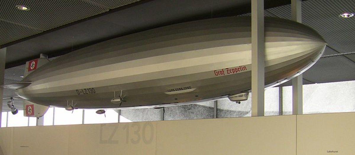 """Model reconstruction of LZ 130 """"Graf Zeppelin"""" (II) at Zeppelin Museum, Friedrichshafen"""