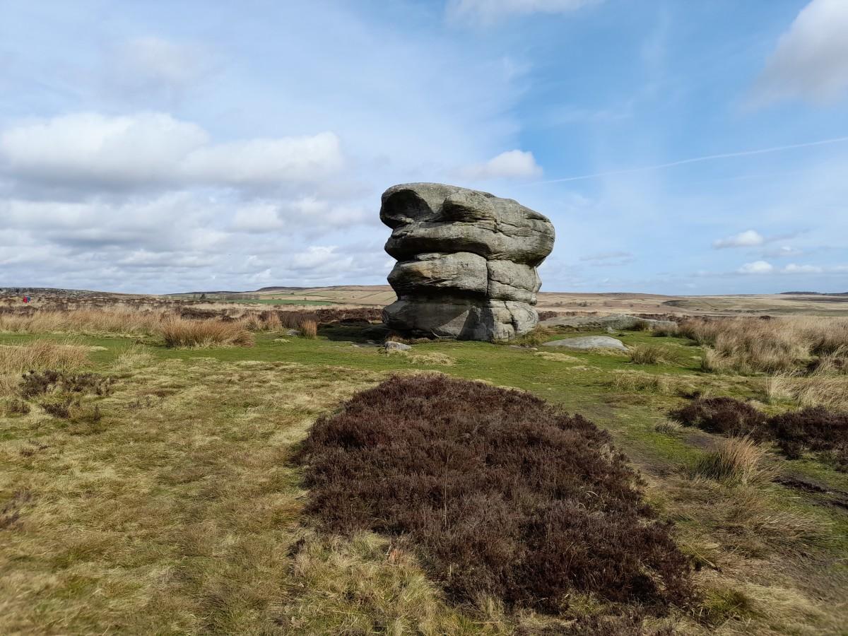 Eagle Stone in Derbyshire