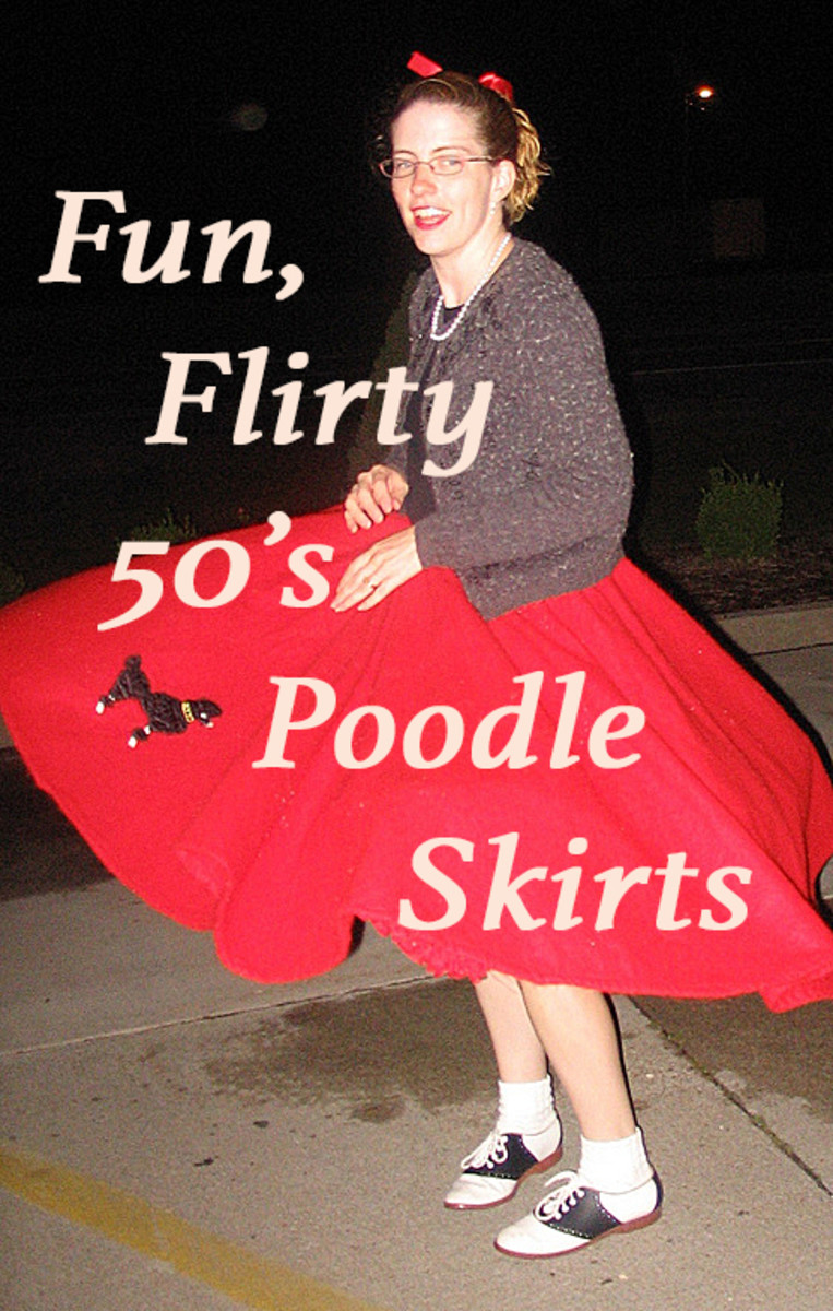 Woman twirling her poodle skirt