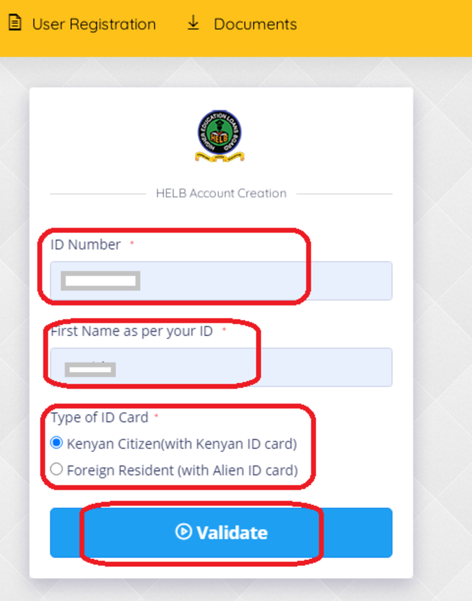 How to register on Helb Portal
